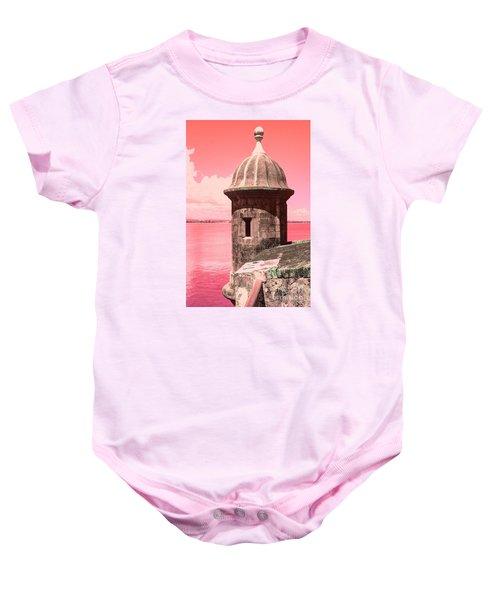 El Morro In The Pink Baby Onesie