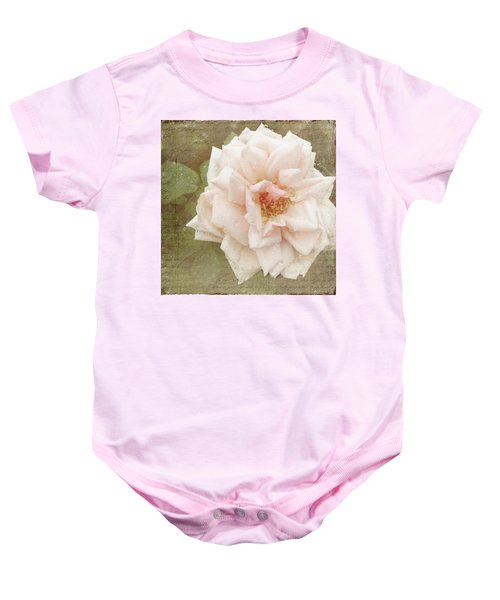 Baby Onesie featuring the photograph Elie Beauvillain Rose Textured Art by Renee Hong