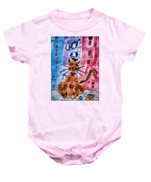 Emma's Spotted Kitty Baby Onesie