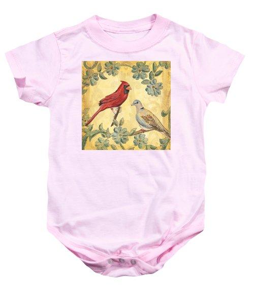Exotic Bird Floral And Vine 2 Baby Onesie