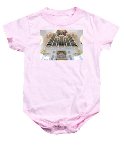 Gold And Blue Pipes Baby Onesie