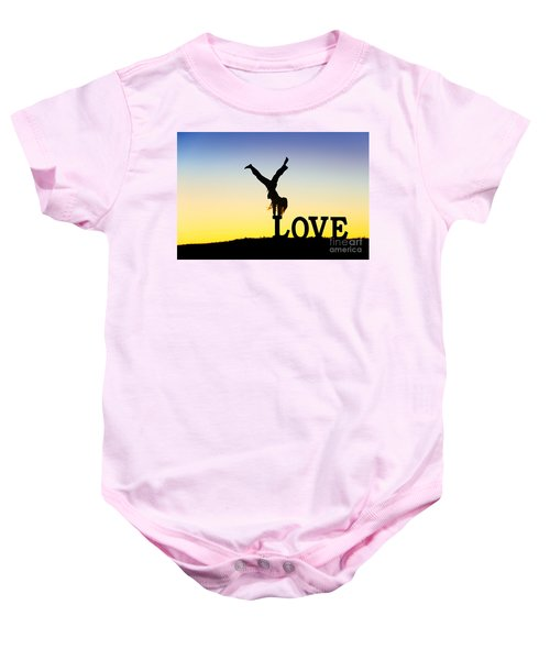 Head Over Heels In Love Baby Onesie