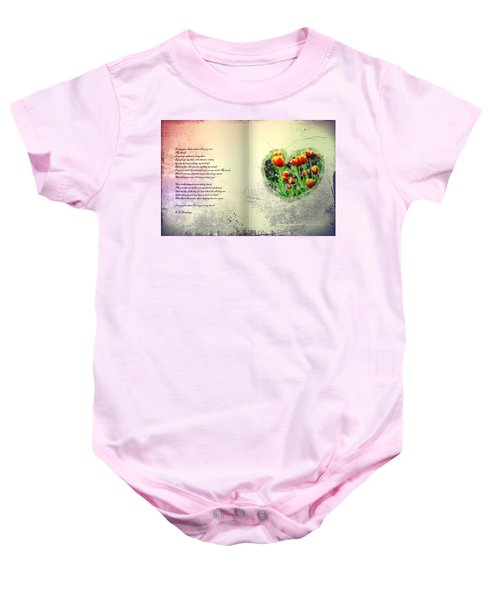 I Carry Your Heart With Me  Baby Onesie
