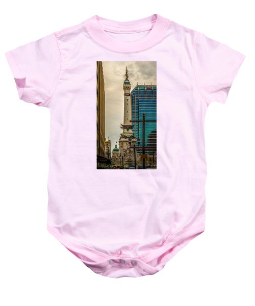 Indiana - Monument Circle With State Capital Building Baby Onesie