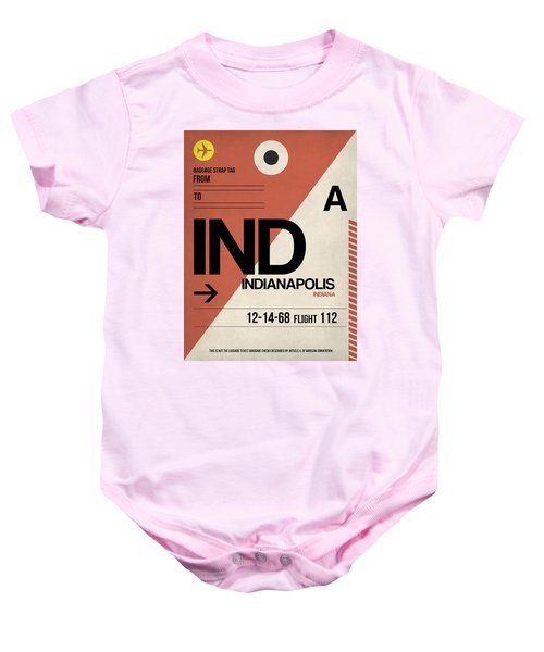 Indianapolis Airport Poster 1 Baby Onesie