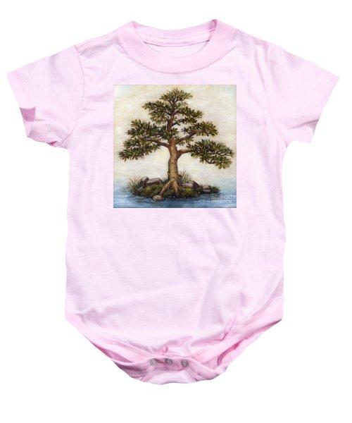 Island Tree Baby Onesie