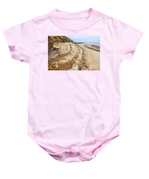 Jagged Beach - Montana De Oro State Park In California. Baby Onesie