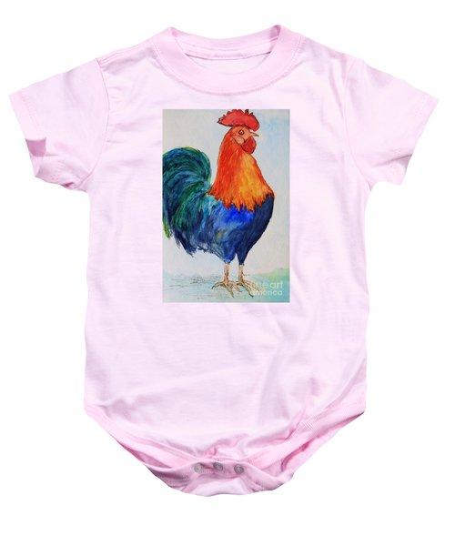 Key West Rooster Baby Onesie