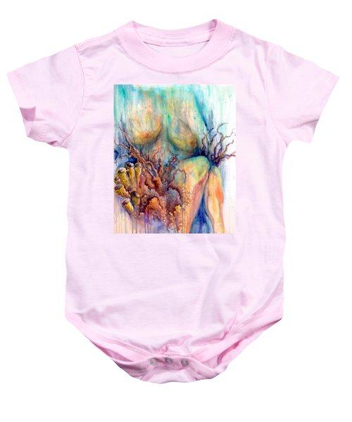 Lady In The Reef Baby Onesie