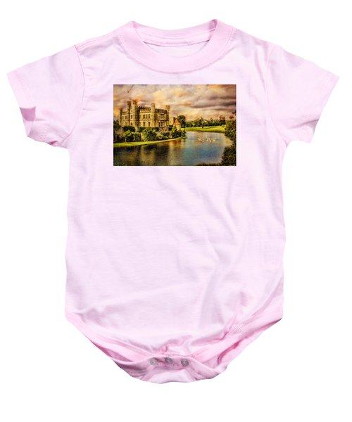 Leeds Castle Landscape Baby Onesie