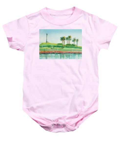 Long Beach Lighthouse Baby Onesie