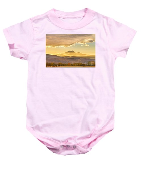 Longs Peak Autumn Sunset Baby Onesie
