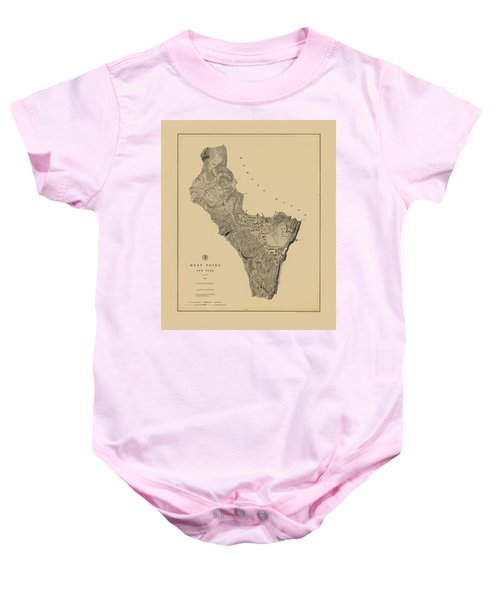 Map Of West Point 1883 Baby Onesie