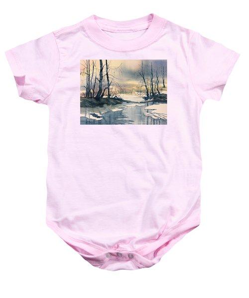 Melt Water On Skipwith Common Baby Onesie