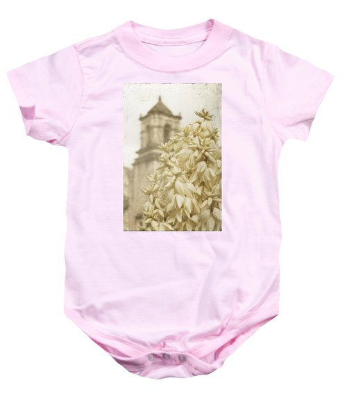 Mission San Jose And Blooming Yucca Baby Onesie