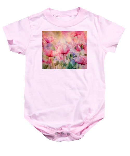 Monet's Poppies Vintage Warmth Baby Onesie