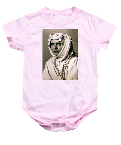 Baby Onesie featuring the photograph Mum Chris  Year 1955 by Colette V Hera  Guggenheim