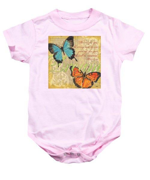 Musical Butterflies 1 Baby Onesie