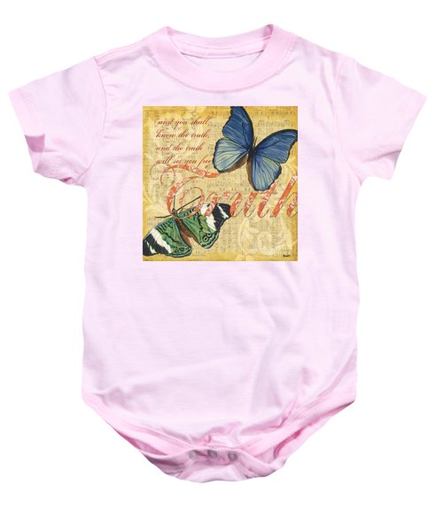 Musical Butterflies 3 Baby Onesie