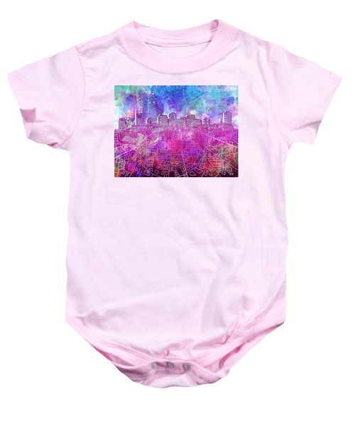 Nashville Skyline Watercolor Baby Onesie