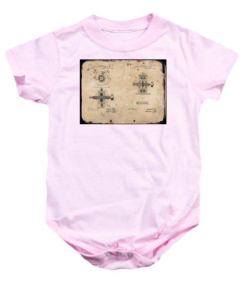 Nikola Tesla's Alternating Current Generator Patent 1891 Baby Onesie