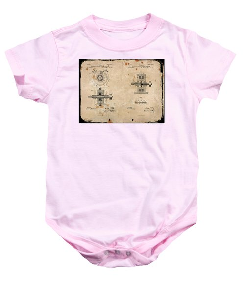 Nikola Tesla's Alternating Current Generator Patent 1891 Baby Onesie