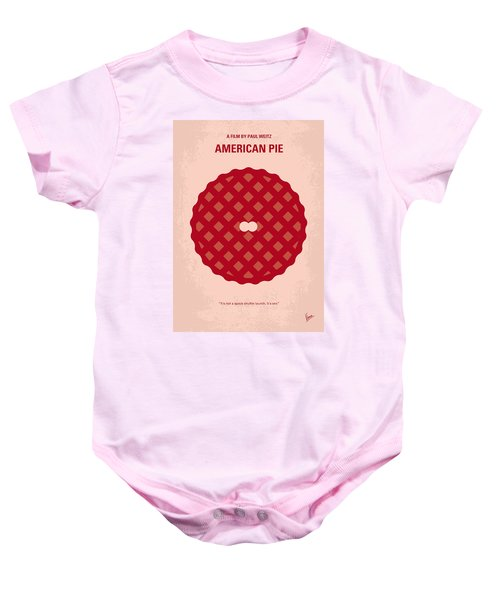 No262 My American Pie Minimal Movie Poster Baby Onesie