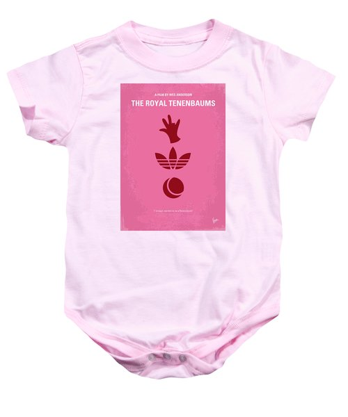 No320 My The Royal Tenenbaums Minimal Movie Poster Baby Onesie