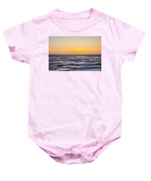 Ocean Beach Sunset Baby Onesie