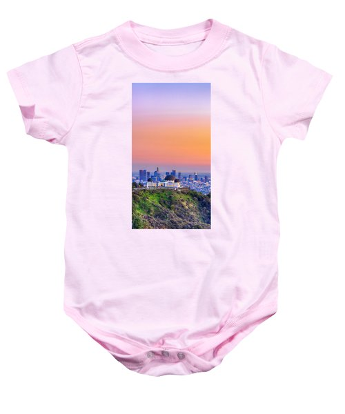Orangesicle Griffith Observatory Baby Onesie