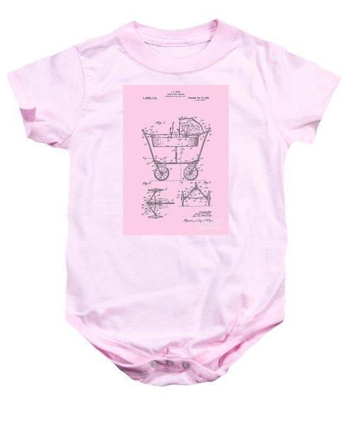 Patent Art Baby Carriage 1922 Mahr Design Pink Baby Onesie