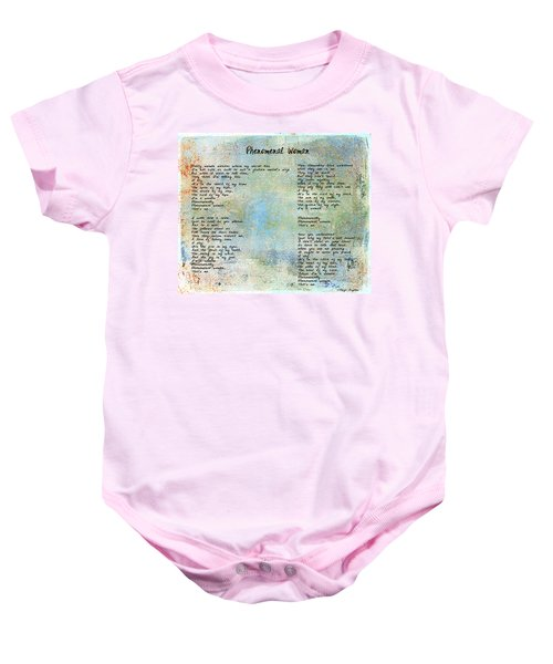 Phenomenal Woman - Blue Rustic Baby Onesie