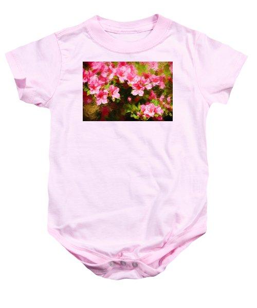 Pink Azealas Baby Onesie