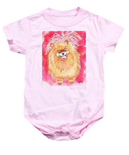 Pink Pom Baby Onesie
