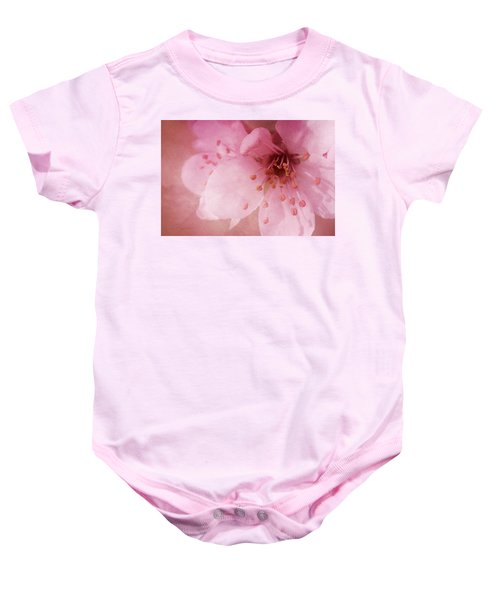 Pink Spring Blossom Baby Onesie