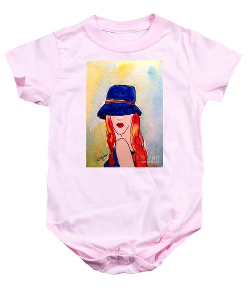Portrait Of A Woman Baby Onesie