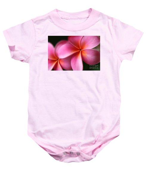 Pua Lei Aloha Cherished Blossom Pink Tropical Plumeria Hina Ma Lai Lena O Hawaii Baby Onesie