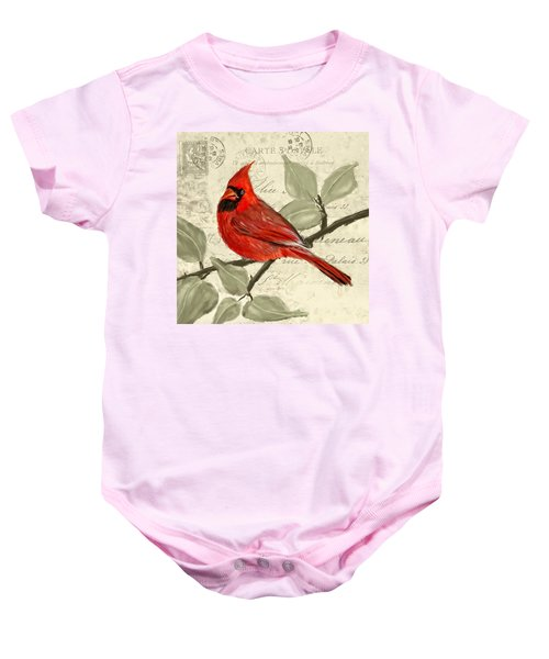 Red Melody Baby Onesie