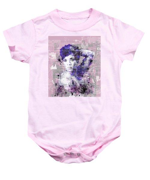 Rihanna 3 Baby Onesie by Bekim Art