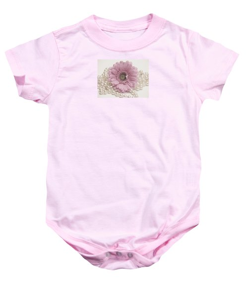 Say It With Pearls Baby Onesie