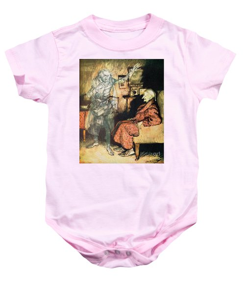 Scrooge And The Ghost Of Marley Baby Onesie