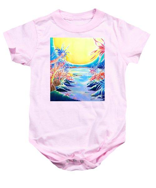 Seashore In The Moonlight Baby Onesie