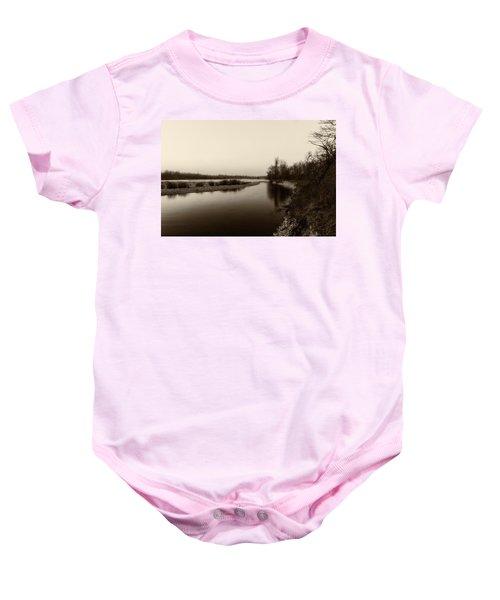 Sepia River Baby Onesie