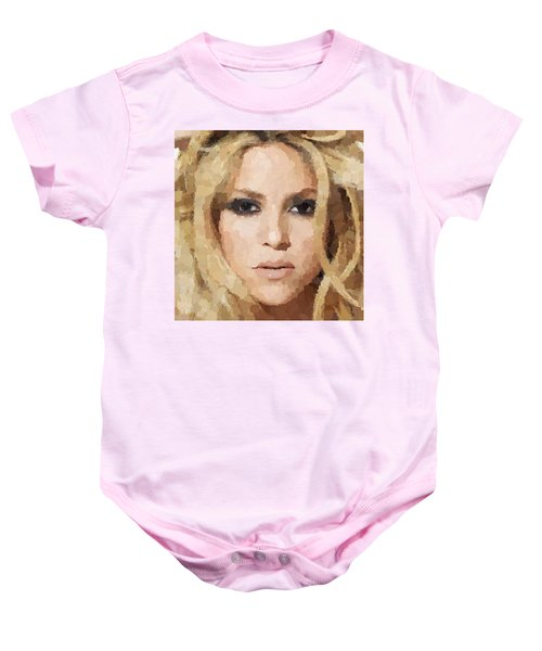 Shakira Portrait Baby Onesie by Samuel Majcen