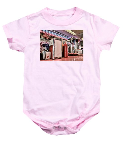 Sitting At The Counter Baby Onesie