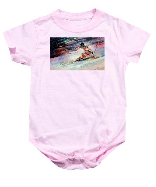 Skiing 01 Baby Onesie