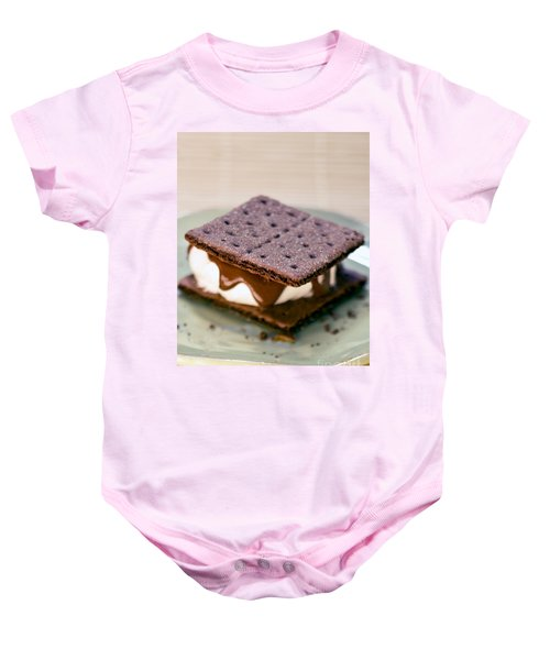 80b37b2d4 National S'mores Day Baby Onesie