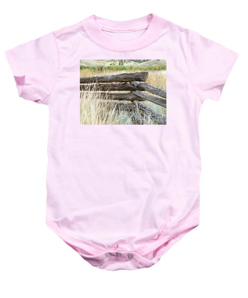 Snake Fence And Sage Brush Baby Onesie