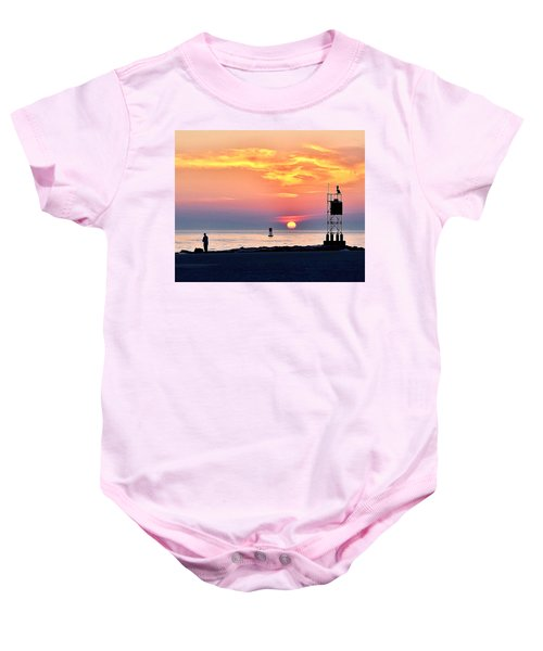 Sunrise At Indian River Inlet Baby Onesie