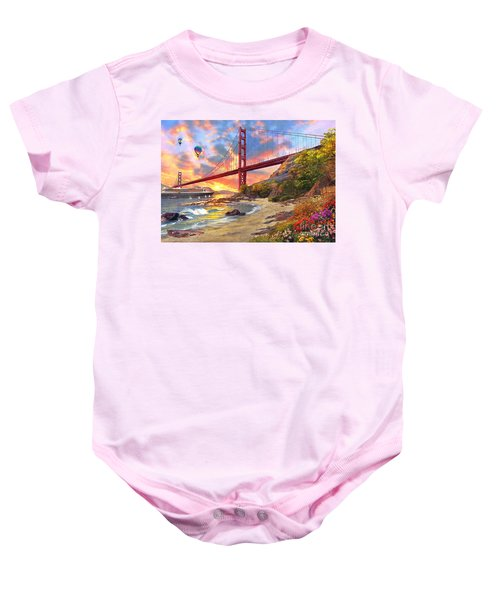 Sunset At Golden Gate Baby Onesie